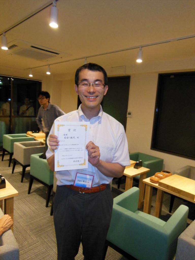 上位リーグ優勝の谷田川さん