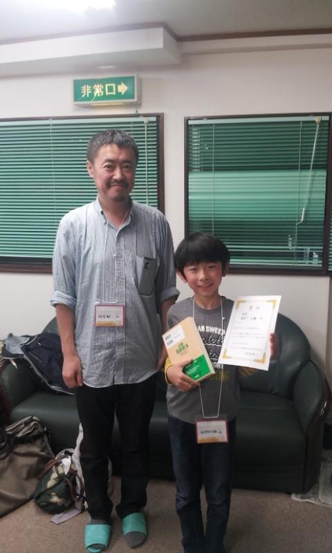 嬉しい初優勝となった長谷川斗輝くん。準優勝は何度も経験していましたが、やはり優勝の達成感は格別です。